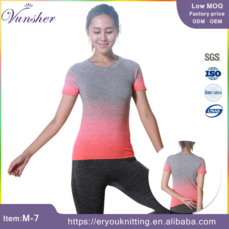 New style yoga gym compression running t-shirt