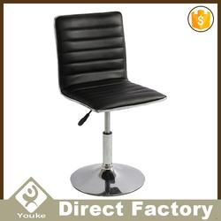 Black leather bar stool chrome for sale