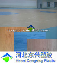 indoor pvc wood flooring roll for basketball court