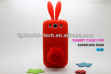Cute Rabito rabbit case for samsung galaxy s3 i9300 cover,rabbit silicone for samsung galaxy s3 case,With Retail Packing