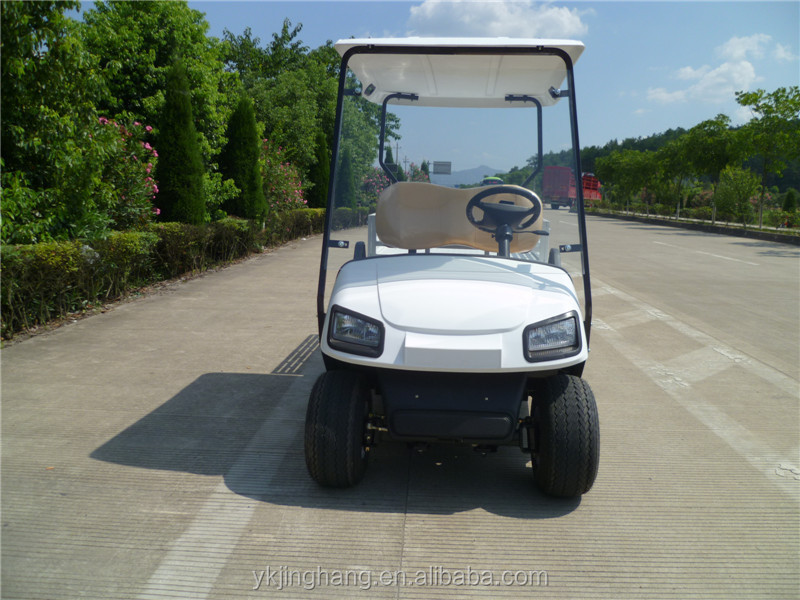 two seats cheap prices electric golf car with cargo box