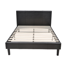Modern Tufted Faux Leather Bed Frame