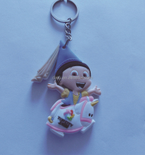 custom purse hanging key chain 2d