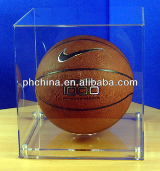 Customized Clear Acrylic Basketball/Helmet Display Case, Acrylic 1:15 Model Car/Soccer/Football/Baseball Display Case