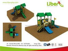 Liben daycare double slide play structure children outdoor playground