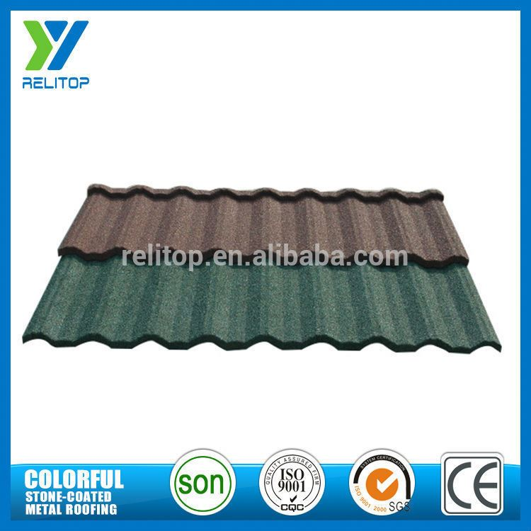 Al-Zinc Sand Chip Coated Nosen Type Roof Tile Made In Gaoyao