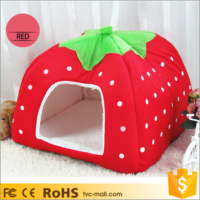 Strawberry Fluff Foldable Pet Rest House XXL Dog Bed