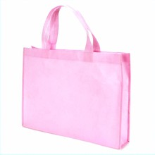 Cheapest Promotional Printing Personalized PINK Non Woven Bag