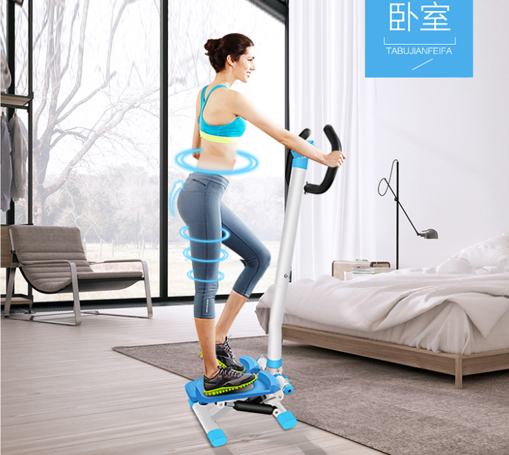 exercise stepper with handlebar and dumbbell