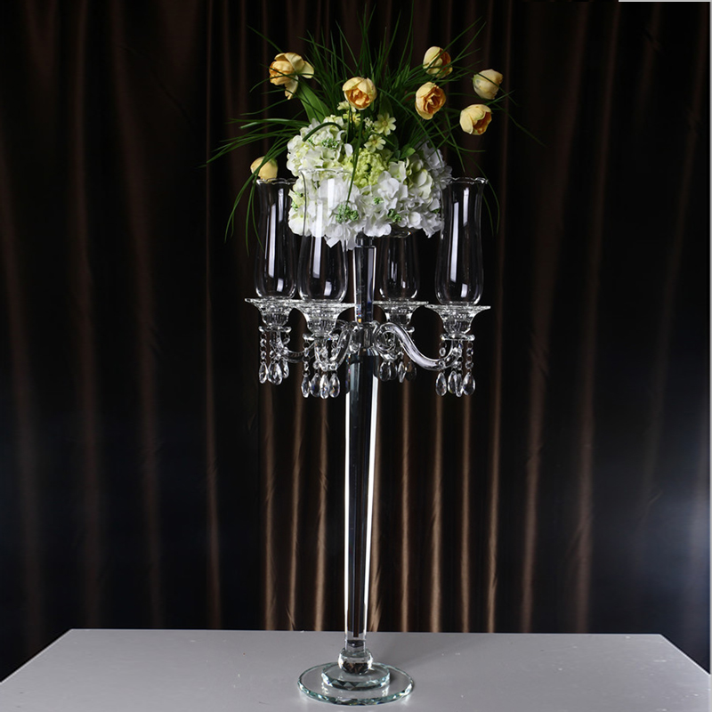 Crystal glass wedding decoration candle centerpiece