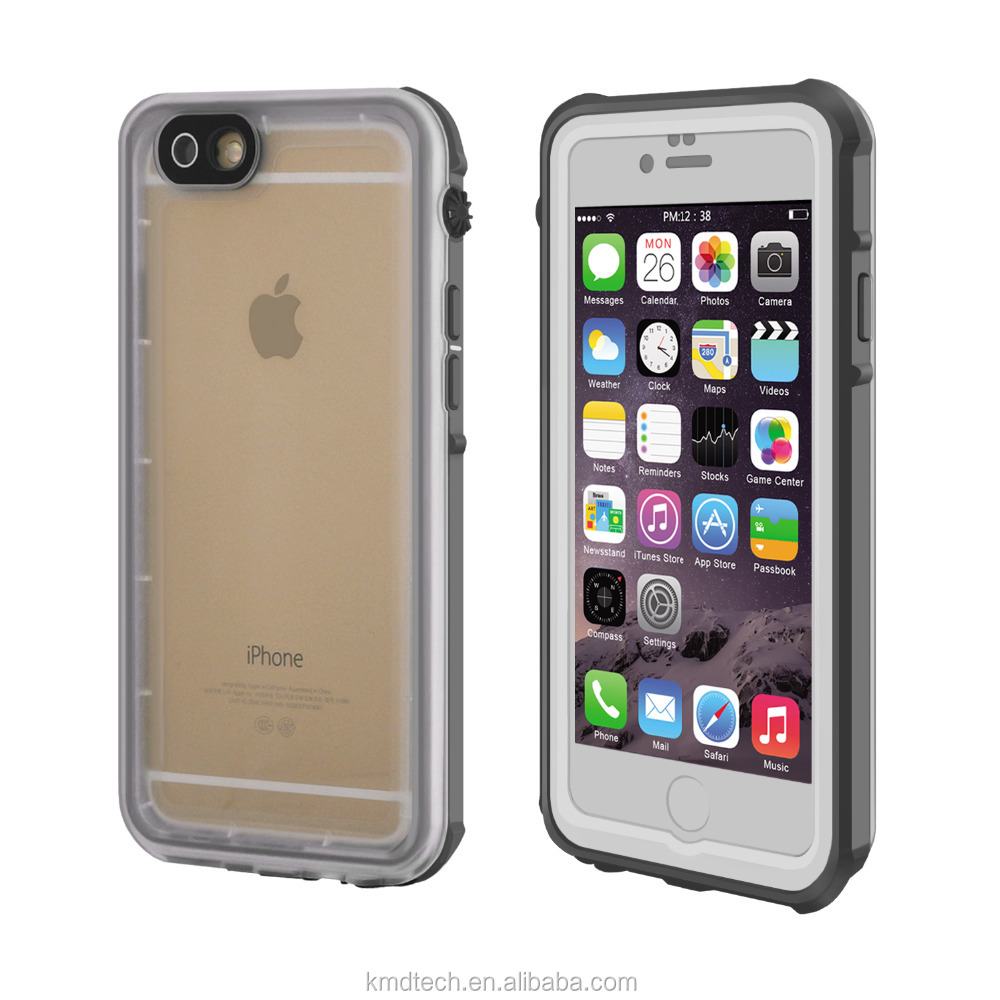 Customzied Slim Transparent Waterproof Case for iPhone 6 6S IP68 High Quality Cheap Price Phone Case