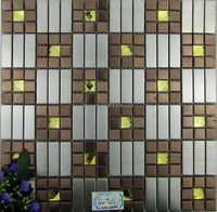 square metal mosaic gold 13 faces mirror glass mosaic stainless steel mosaic MIX