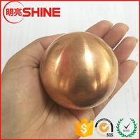 30mm 38mm 39mm 49mm 50mm 59.8mm 60mm Big Copper Sphere Solid 0.999 Copper Metal Ball For Plating Natural Mineral