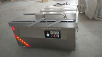 500mm sealing bar double Chambers China vacuum packing machine