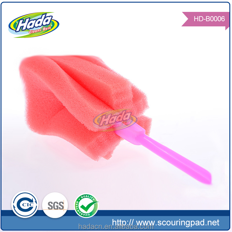Alibaba express cup cleaning long handle sponge brush foam brush