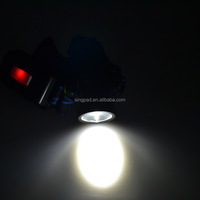 frogs eye shap lens zoom head torch night guid led coal miner headlamp