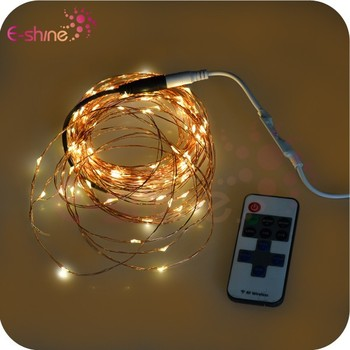 2015 Newest Remote Control Micro Led Copper Wire String Lights