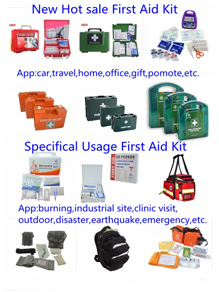 New Hot sell Roadside Emergency Kit Outdoor Tool First Aid Bag Kit