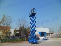 Warehouse application Portable Electric Hydraulic Scissor Self Propelled Lift Table work platform