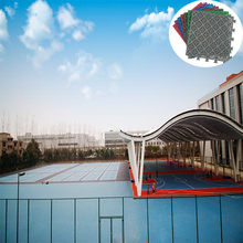 Outdoor PP Interlock Badminton Court Rubber Sports Flooring
