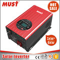 MUST DC to AC converter pure sine wave 3000W 12V solar energy inverter with MPPT solar charge controller