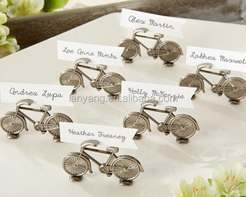 """Le Tour"" Bicycle Place Card Photo Holder, Elegant photo holder (BF921)"