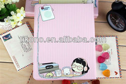 High grade colorful cartoon pu leather case for ipad 2 3 for Apple case