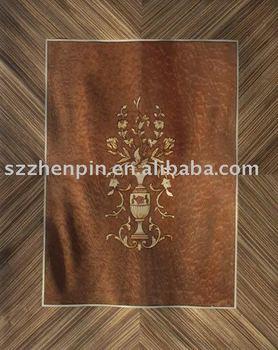 Marquetry wood inlay and door veneer rosette with for 1 panel inlaid oak veneer door