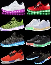 sport footwear PU leather rubber sole comfortable led special shoes