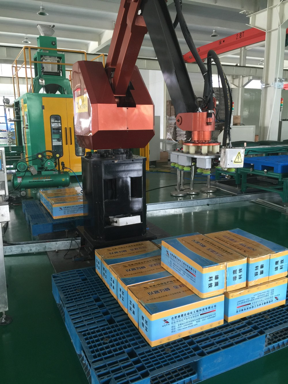 automation palletizing equipment and Automatic Robot Palletize / AC Servo Beam Robotic Arm