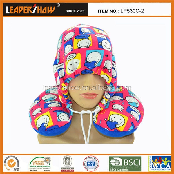 Leadershow patent products travel pillow with hood hat neck protection pillow