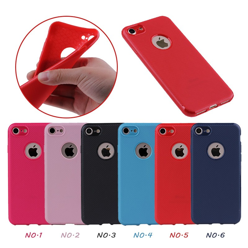6 Colors Simple Mobile Phone Covers Solft TPU Case for iPhone 8