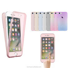 360 Degree Full Body Protective Shockproof Silicone Gel TPU Clear Phone Case Back Cover For Apple IPhone 7