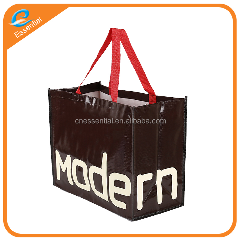 Fashion style laminated PP woven shopping bag