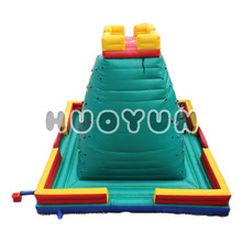 Commercial plastic kids rock climbing wall, inflatable games equipment outdoor