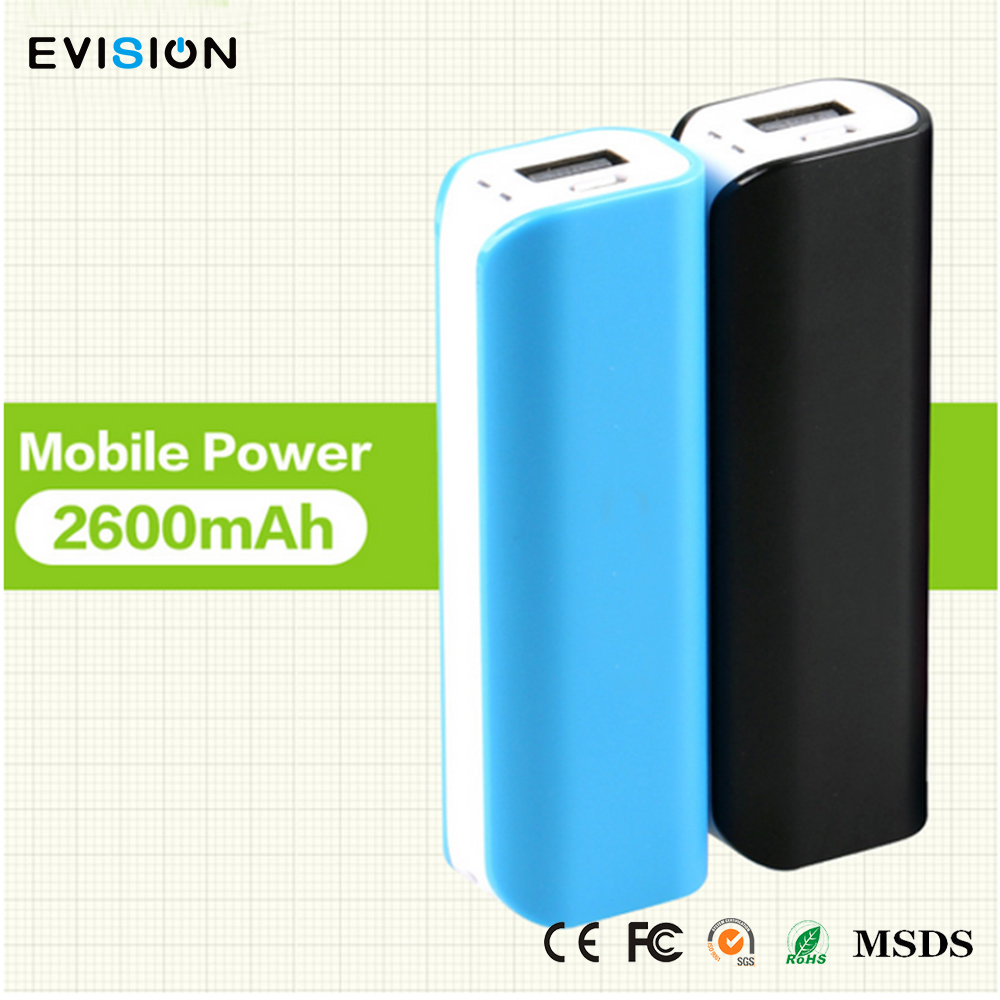 Oem Smart 2600Mah Power Bank Battery Charger With Logo Free Printing