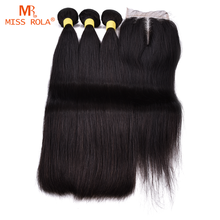 Wholesale 8A Raw Indian Hair, unprocessed straight hair bundles with closure