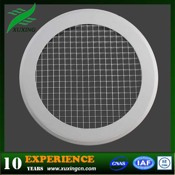 HVAC system round egg crate vent egg crate grille egg crate diffuser