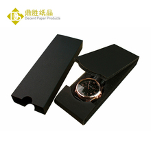 YIWU DECENT Wholesale Thin Black Foam Paper Folding Watch Box