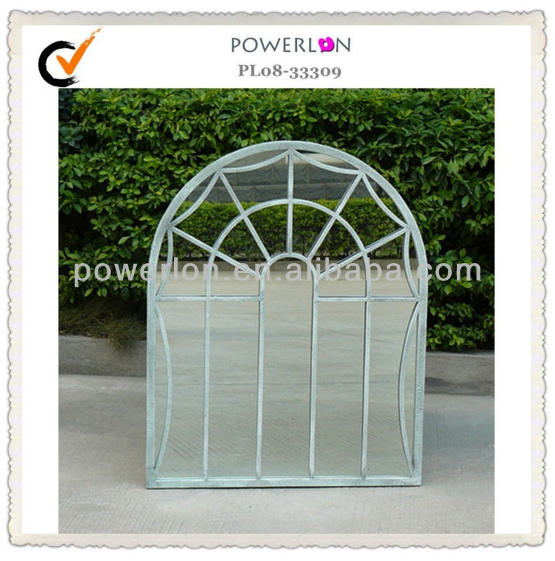 Classic wrought iron design decorative wall mirror