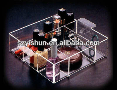 Popular acrylic shelf acrylic make up display shelf
