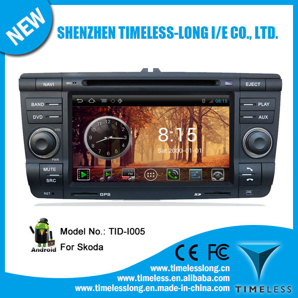 Android system 2 din Car Monitor for Skoda Yeti 2011 with GPS Ipod DVR digital TV box BT Radio 3G/Wifi(TID-I005)