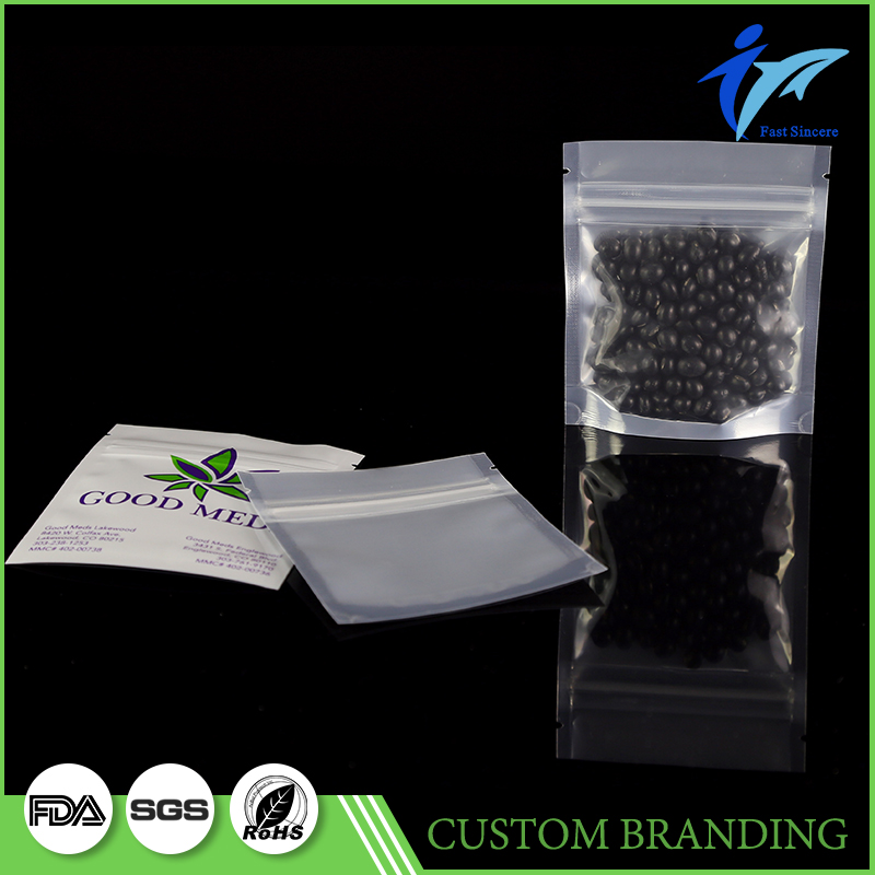 Promotional Standing Clear Pvc Bag With Zipper