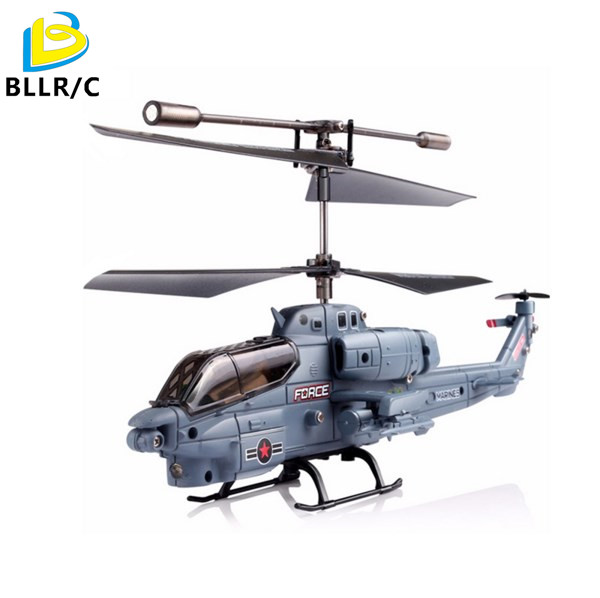 Original Syma S108G Marines AH-1 3CH Indoor RC Helicopter Radio remote control high quality Toys Blue color Aircraft