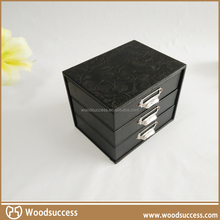 With cheap price durable leather stand up jewelry case wholesale