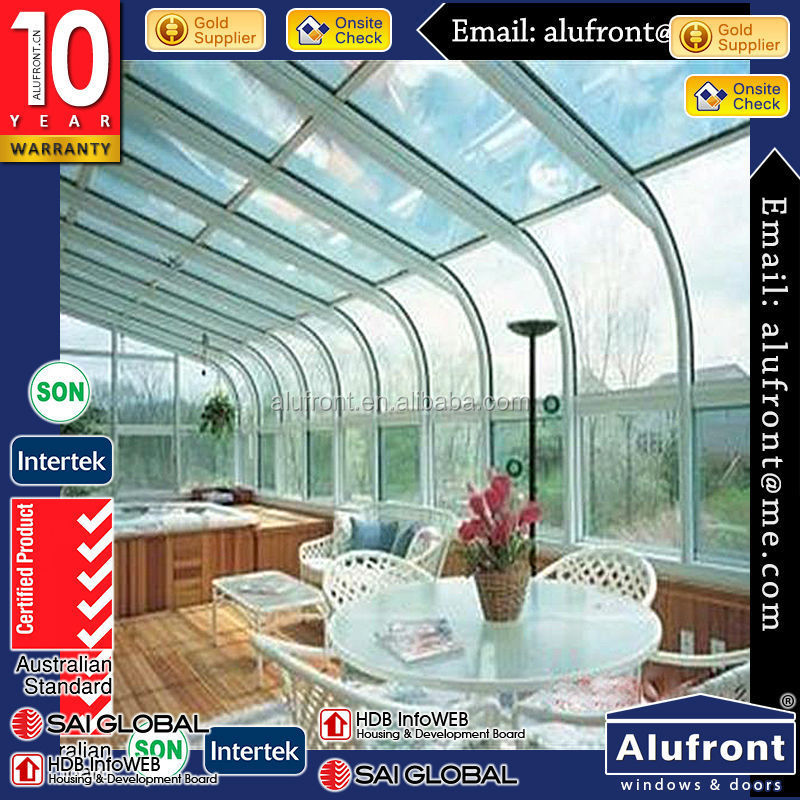 factory design aluminum sun room/winter garden/glass sunrooms/greenhouse