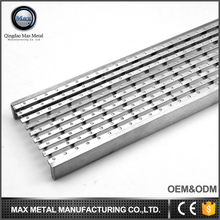 Hot sale great load-bearing stainless steel gutter cover Anti-Slip Wedge Wire Grate drainage channel deodorant grates
