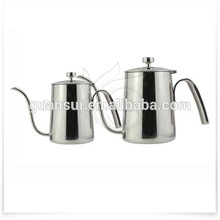 Best selling stainless steel coffee pot/water bottle logo customized enamel pot glass