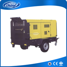 75HP 55kw 300CFM 10bar Towable Motor Type Screw Air Compressor