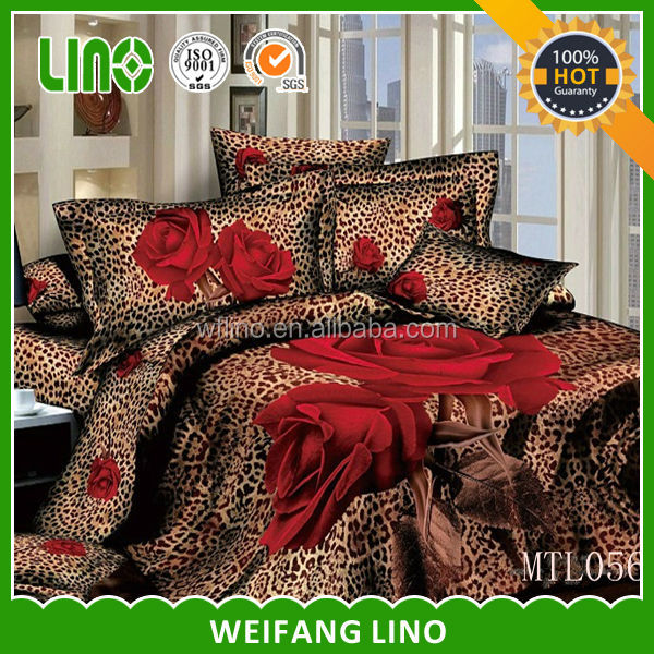 new design 3d duvet cover/3d cotton printing bed sheet/3d high quality pillow case
